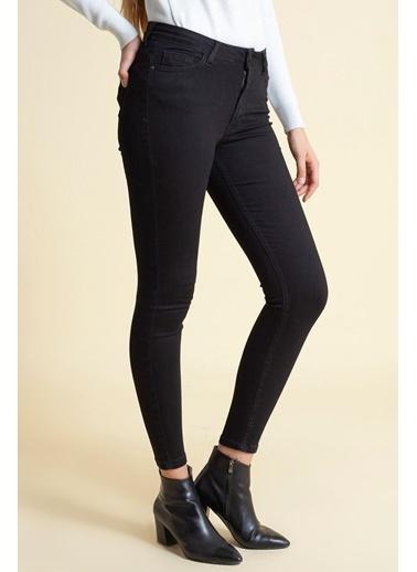 Modaset Normal Bel Skinnny Fit Jean Pantolon  Siyah
